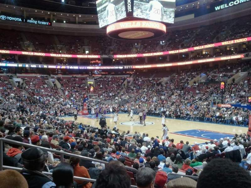 Seating view for Wells Fargo Center Section 103 Row 12 Seat 6