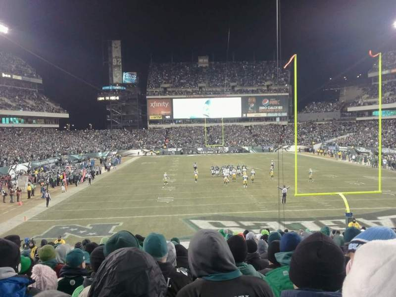 Seating view for Lincoln Financial Field Section 110 Row 29 Seat 12