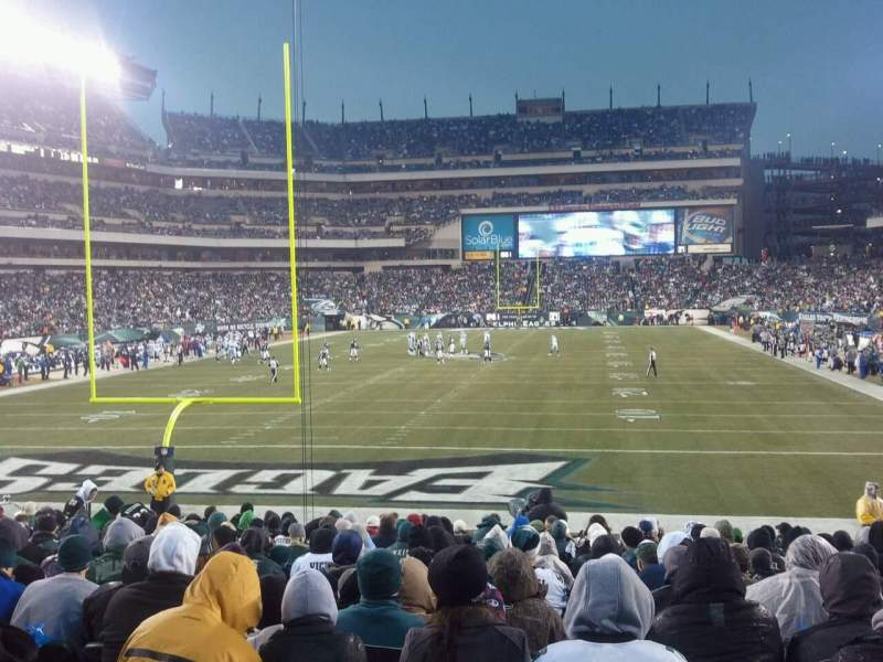 Lincoln Financial Field, section: 132, row: 17, seat: 18