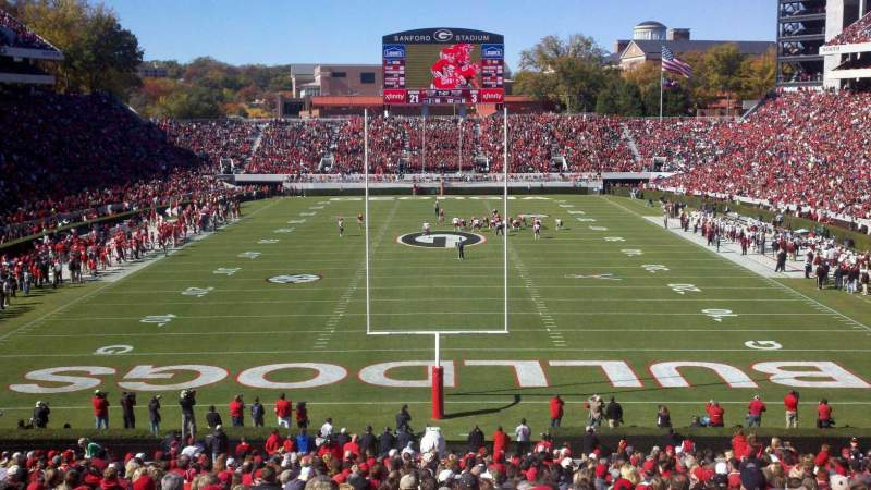 Seating view for Sanford Stadium Section 119 Row 44  Seat 11
