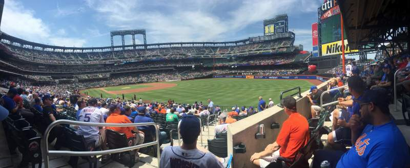 Seating view for Citi Field Section 105 Row 28 Seat 1