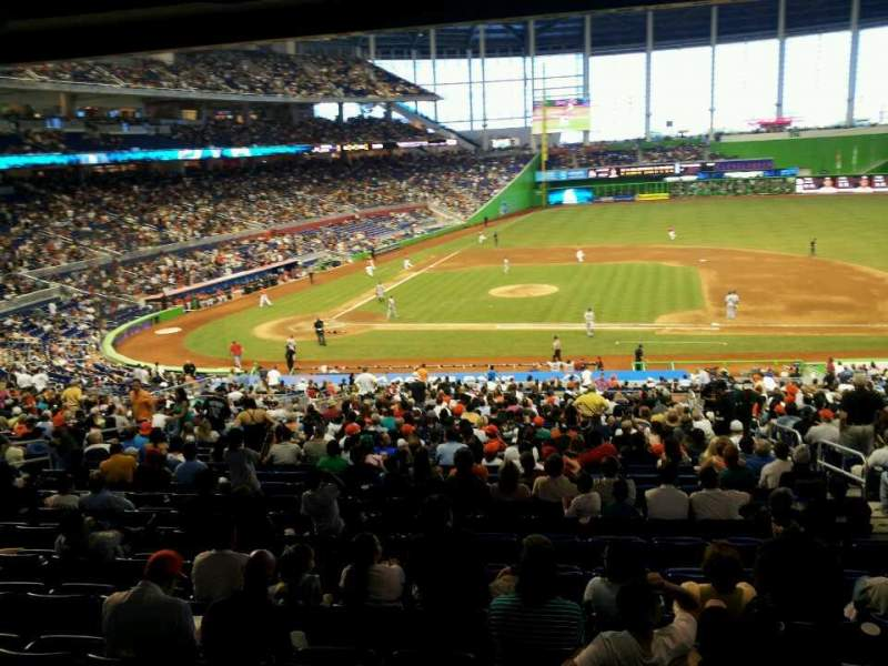Seating view for Marlins park