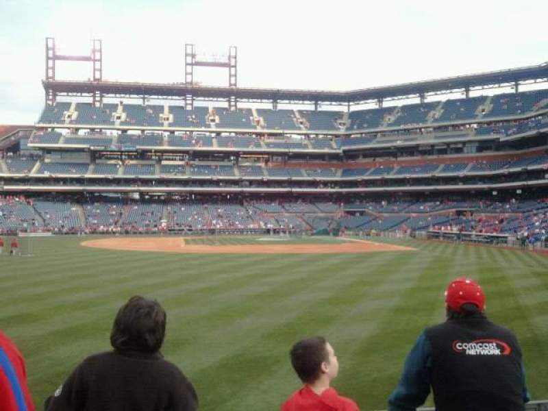 Seating view for Citizens Bank Park Section 143 Row 4 Seat 18