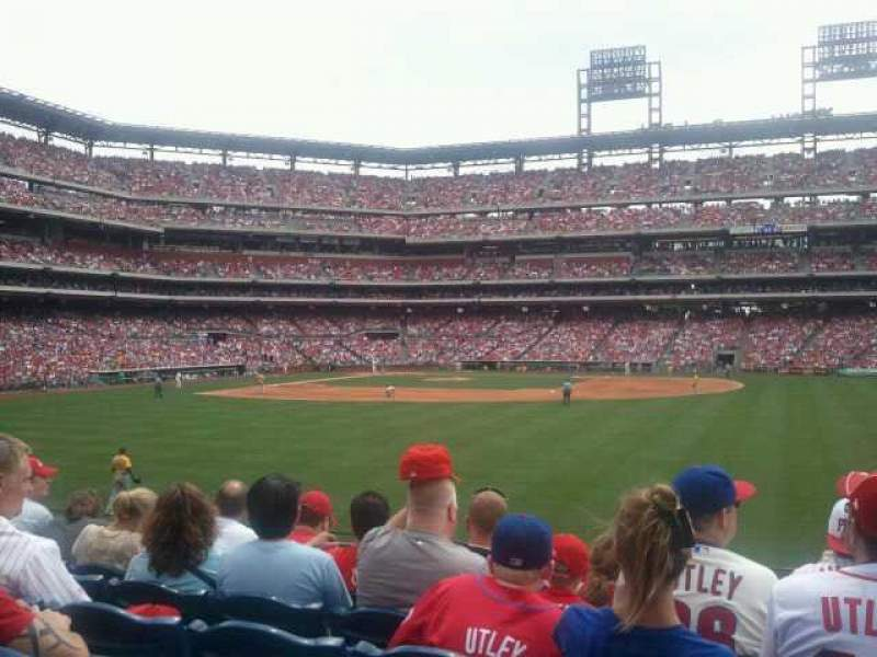 Seating view for Citizens Bank Park Section 103 Row 6 Seat 1