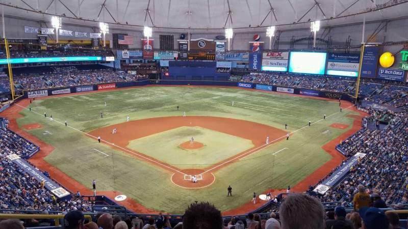 Tropicana Field, section: 300, row: N, seat: 6
