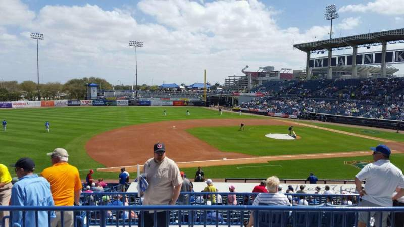 Seating view for George M. Steinbrenner Field Section 217 Row C Seat 14