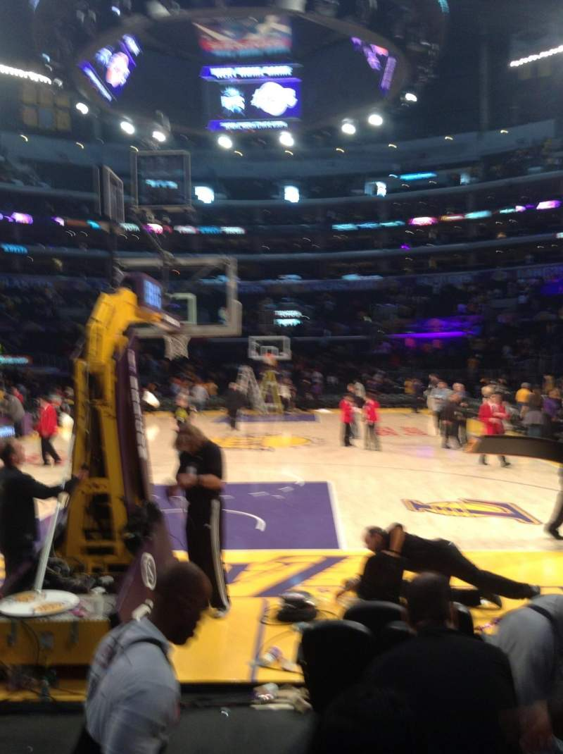 Seating view for Staples Center Section 115 Row D Seat 10