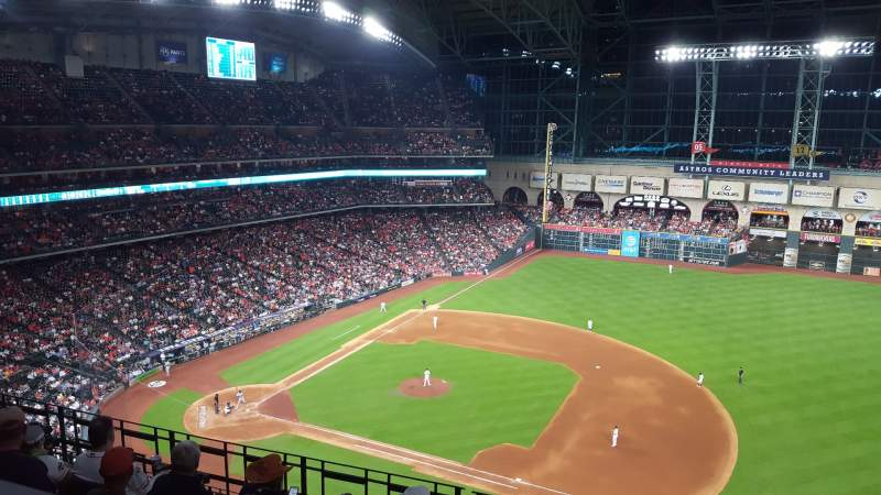 Seating view for Minute Maid Park Section 427 Row 1 Seat 13