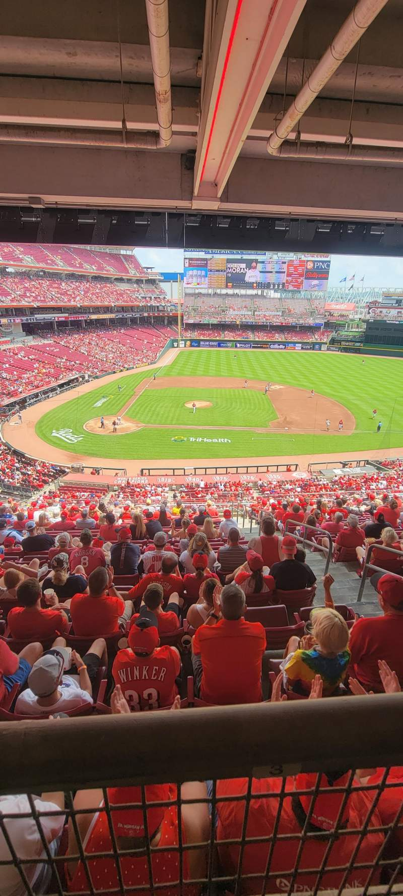 Seating view for Great American Ball Park Section 301 Row N Seat 3
