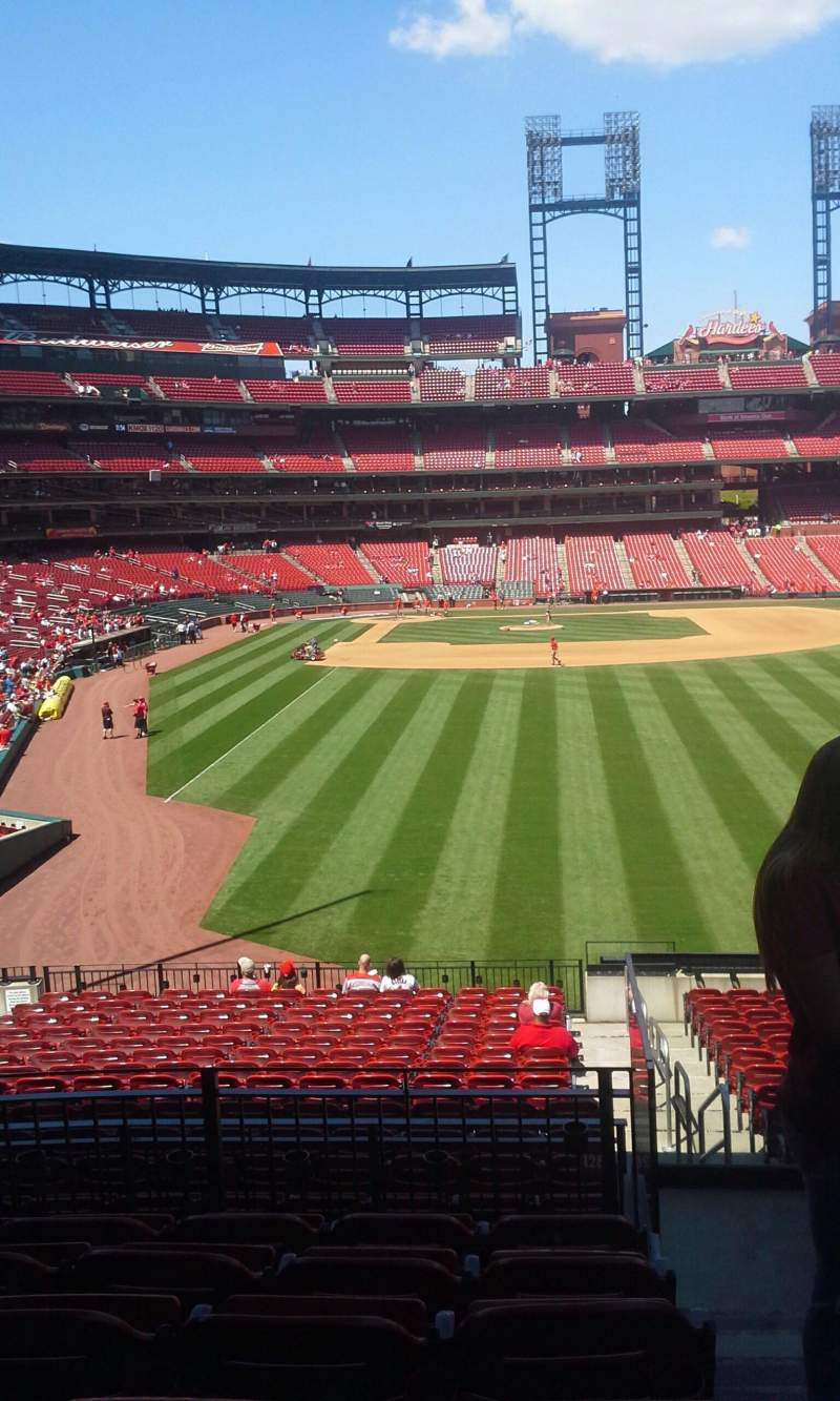 Seating view for Busch Stadium Section 128 Row 28 Seat 10