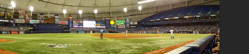 Seating view for Tropicana Field Section 123 Row B Seat 10