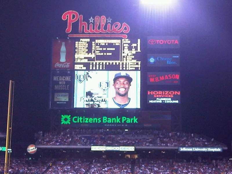 Seating view for Citizens Bank Park Section 115 Row 9 Seat 16