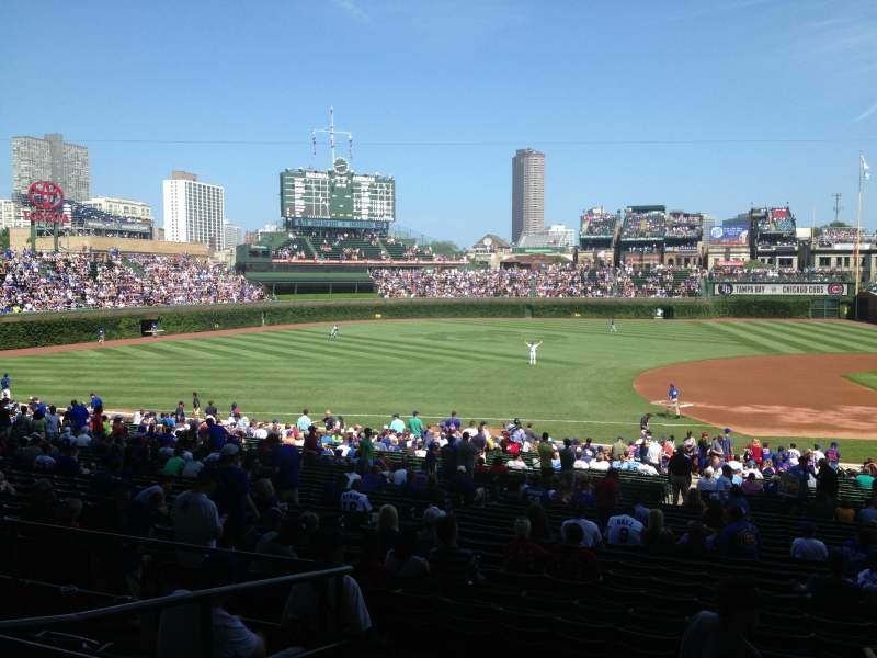 Seating view for Wrigley Field Section 211 Row 6 Seat 105