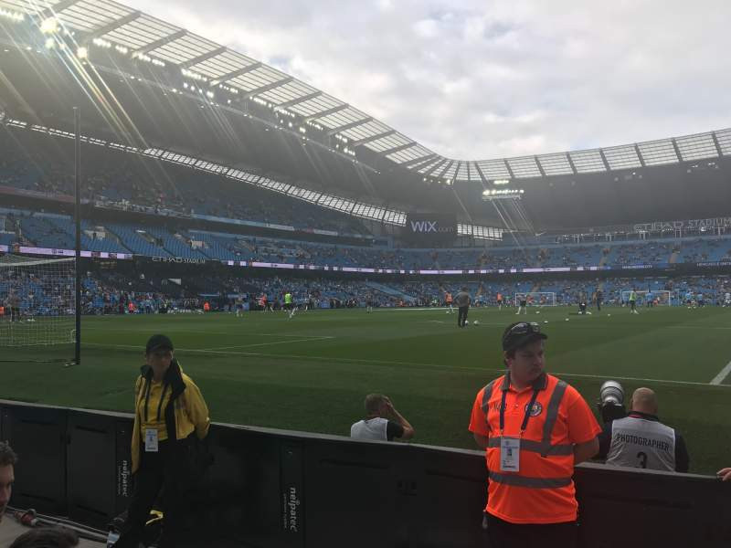 Seating view for Etihad Stadium (Manchester) Section 114 Row 3 Seat 361