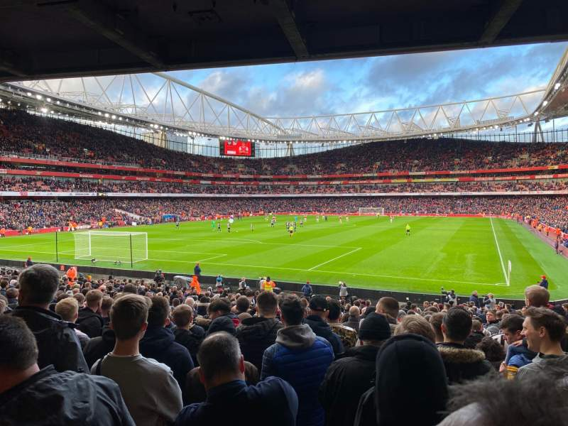 Seating view for Emirates Stadium Section 22