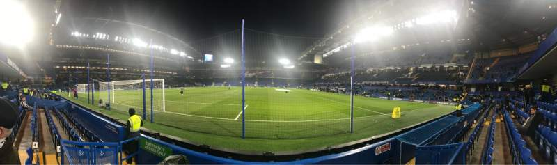 Seating view for Stamford Bridge Section Shed End Lower 3 Row 4