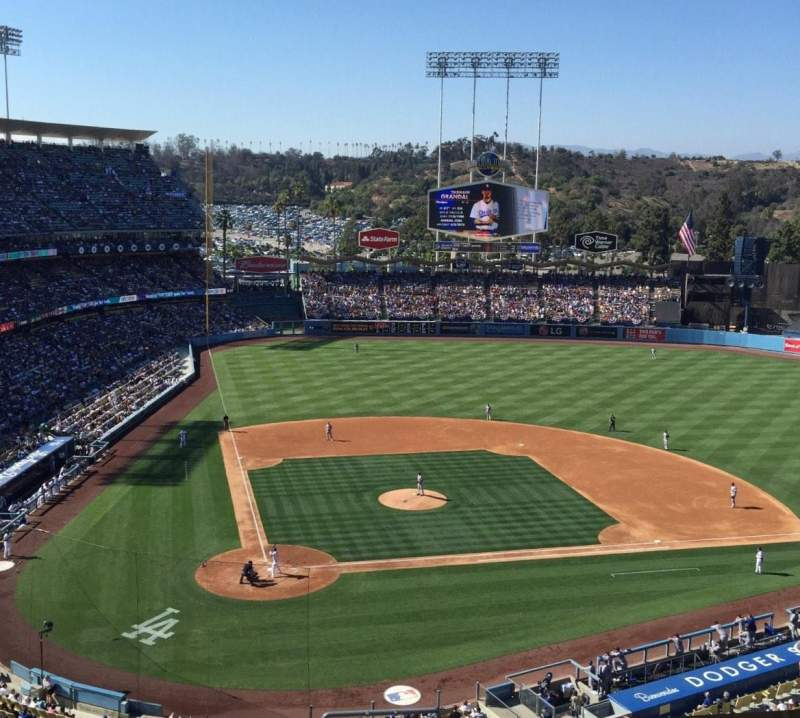 Seating view for Dodger Stadium Section 6RS Row L Seat 22