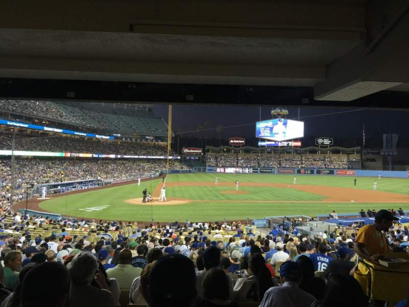 Seating view for Dodger Stadium Section 10FD Row X Seat 10