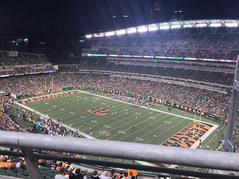 Seating view for Paul Brown Stadium Section 304 Row 13 Seat 2