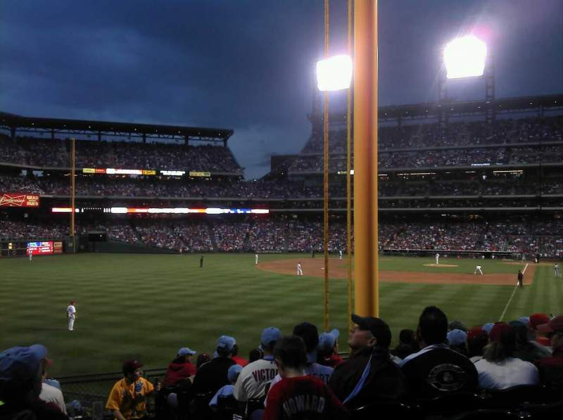 Seating view for Citizens Bank Park Section 141 Row 18 Seat 1