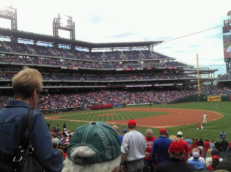 Seating view for Citizens Bank Park Section 112 Row 29 Seat 17