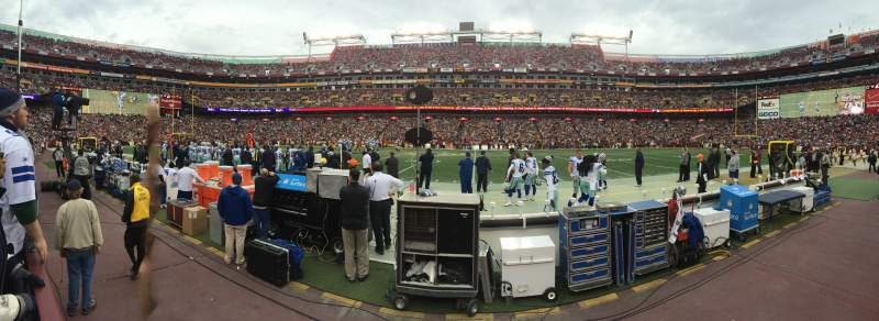 Seating view for FedEx Field Section 21 Row 1 Seat 13