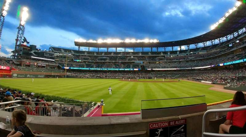 Seating view for SunTrust Park Section 146 Row 11 Seat 2