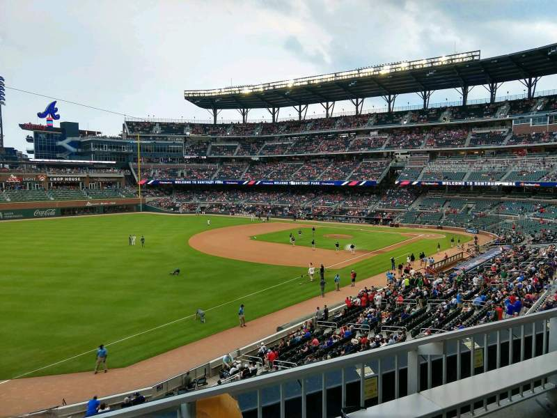 Seating view for SunTrust Park Section 240 Row 2 Seat 15