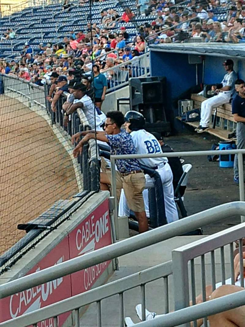 Seating view for MGM Park Section 100 Row E Seat 7