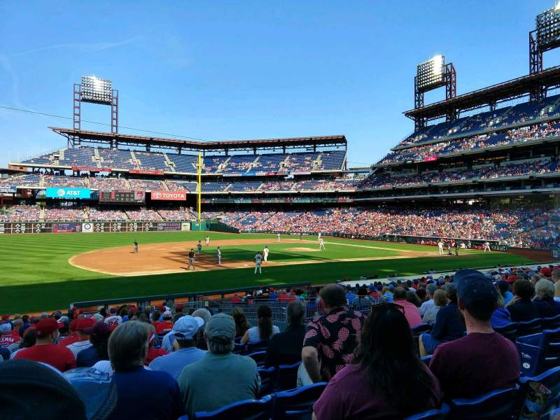 Seating view for Citizens Bank Park Section 133 Row 24 Seat 5