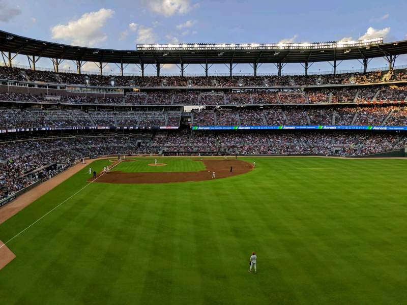Seating view for SunTrust Park Section Top of the Chop