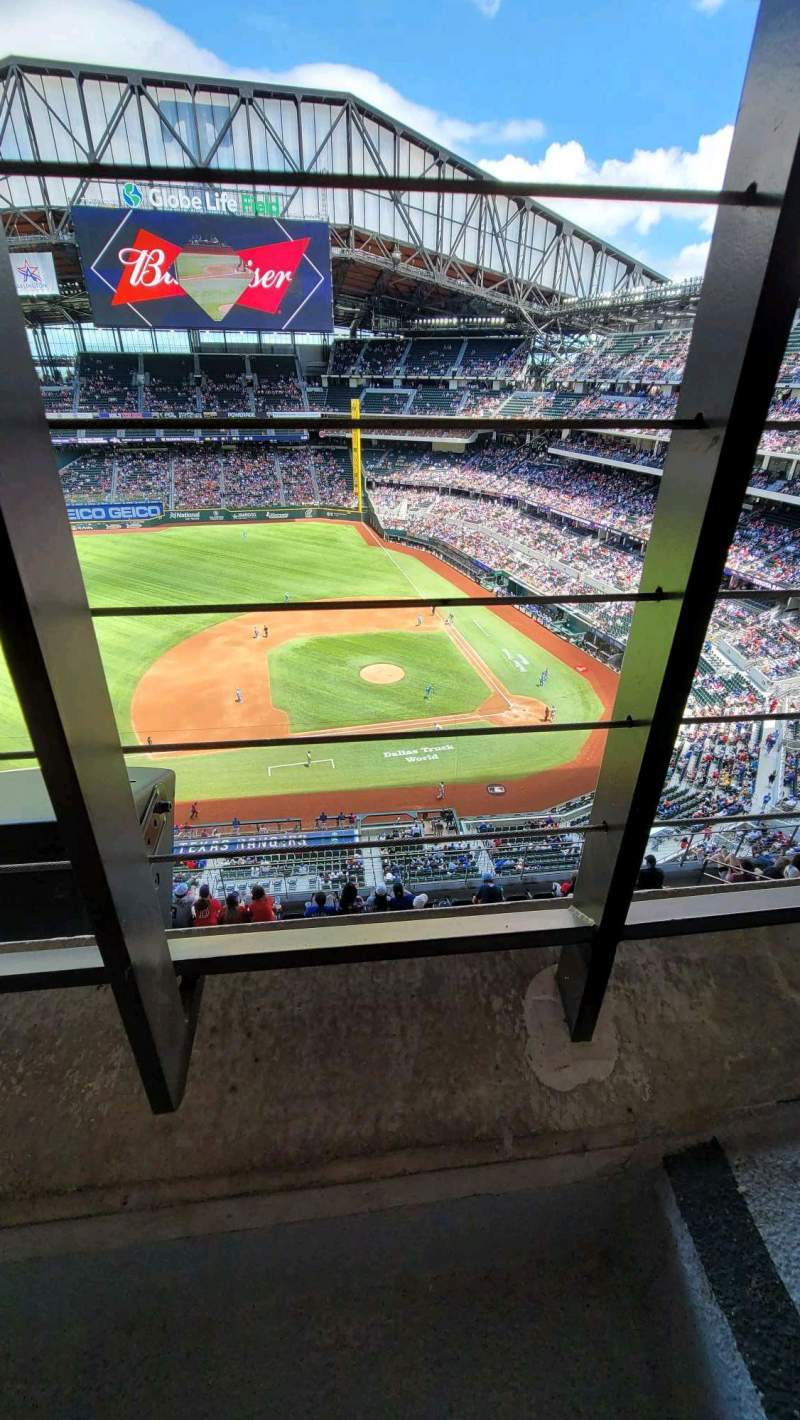 Seating view for Globe Life Field Section 307 Row 1 Seat 22
