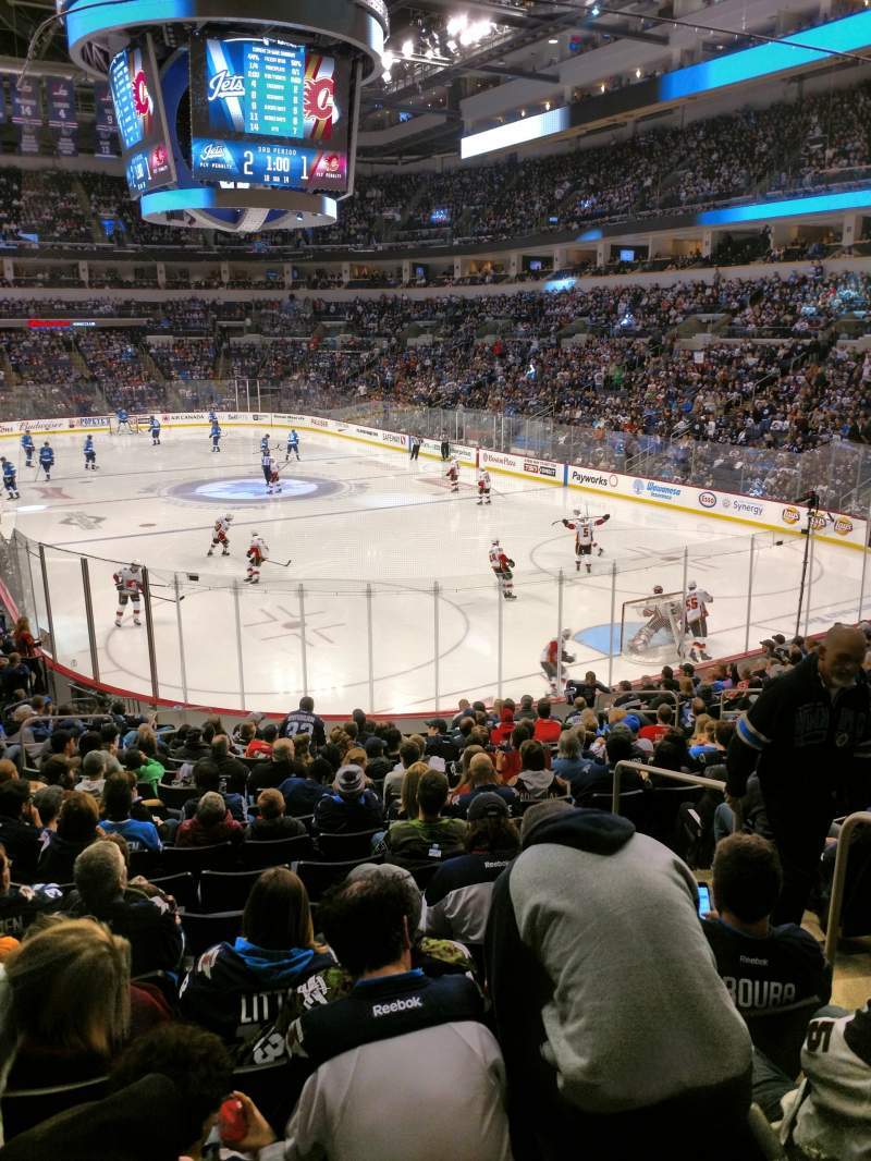 Seating view for Bell MTS Place Section 214 Row 1 Seat 3