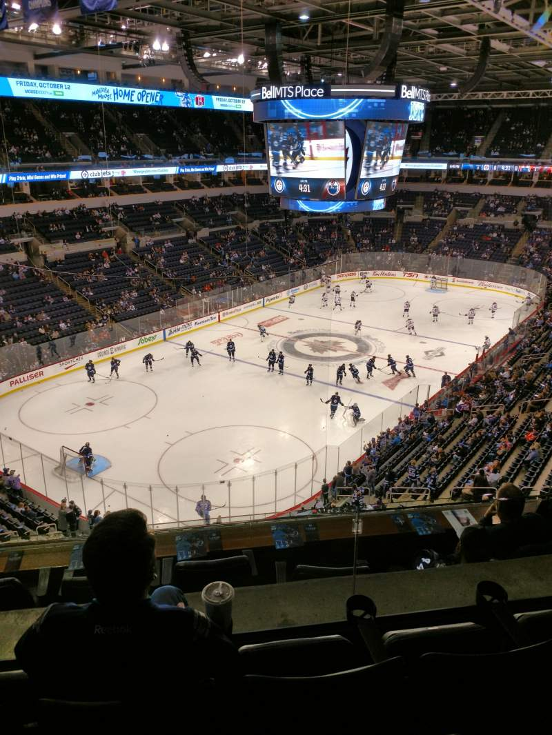 Seating view for Canada Life Centre Section 325 Row 3 Seat 10