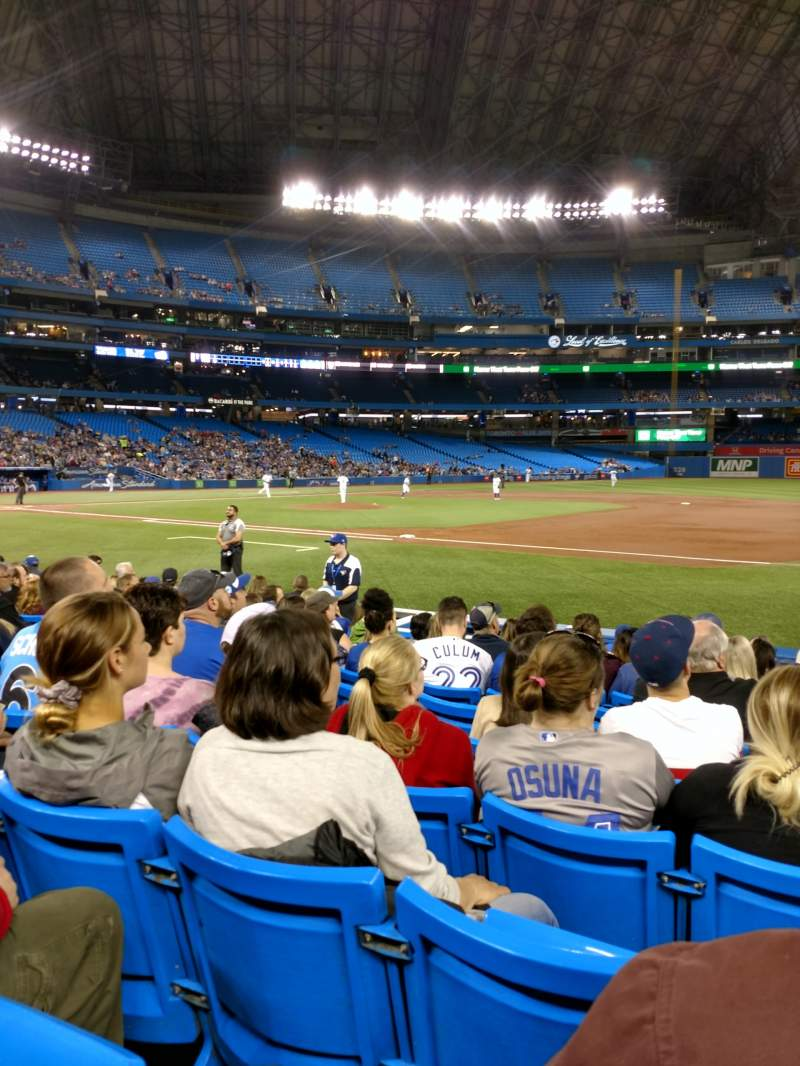 Seating view for Rogers Centre Section 115L Row 7 Seat 109