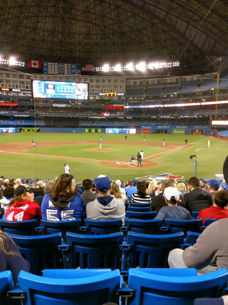 Seating view for Rogers Centre Section 123R Row 23 Seat 4
