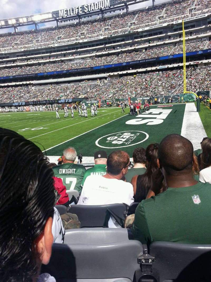 Seating view for MetLife Stadium Section 133 Row 6 Seat 9
