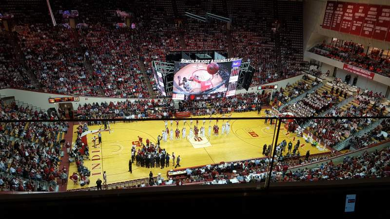 Seating view for Assembly Hall (Bloomington) Section EE Row 2 Seat 12