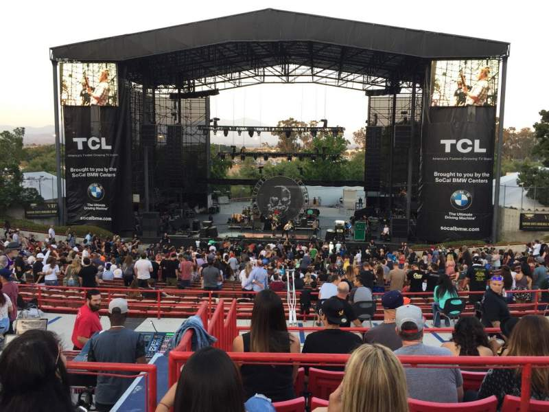 Seating view for Irvine Meadows Amphitheatre Section Loge 6 Row CC Seat 609