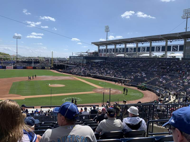 Seating view for George M. Steinbrenner Field Section 216 Row I Seat 5