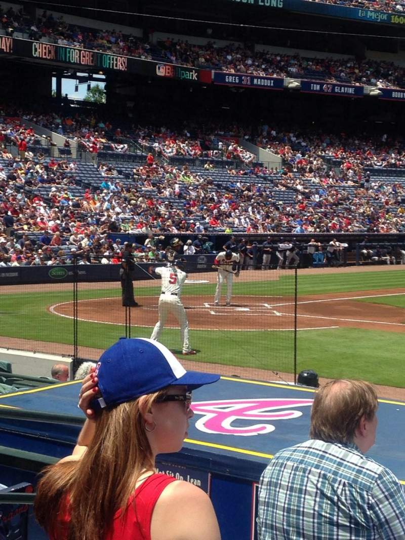 Seating view for Turner Field Section 109 Row 10 Seat 6