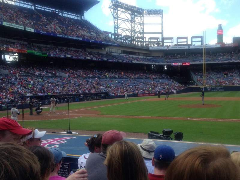 Seating view for Turner Field Section 109 Row 10 Seat 5
