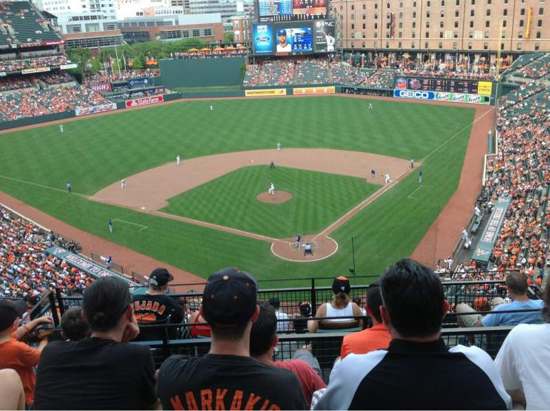 Oriole Park At Camden Yards Section 340 Home Of Baltimore Orioles