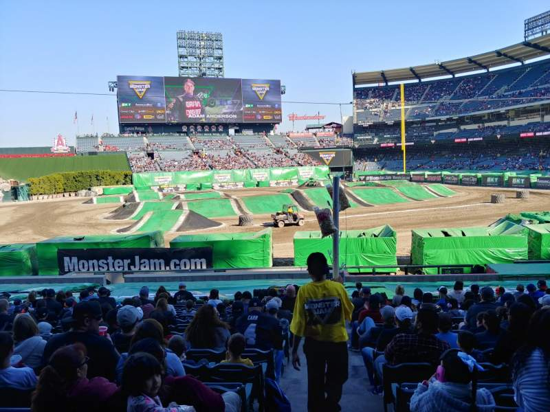Seating view for Angel Stadium Section T209 Row A Seat 21