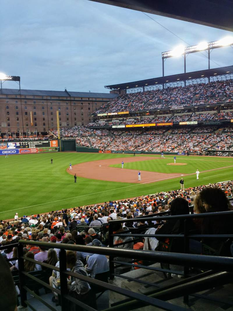 Seating view for Oriole Park at Camden Yards Section 65 Row 5 Seat 1