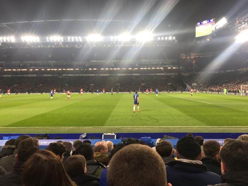 Seating view for Stamford Bridge Section East Lower 6 Row L Seat 152