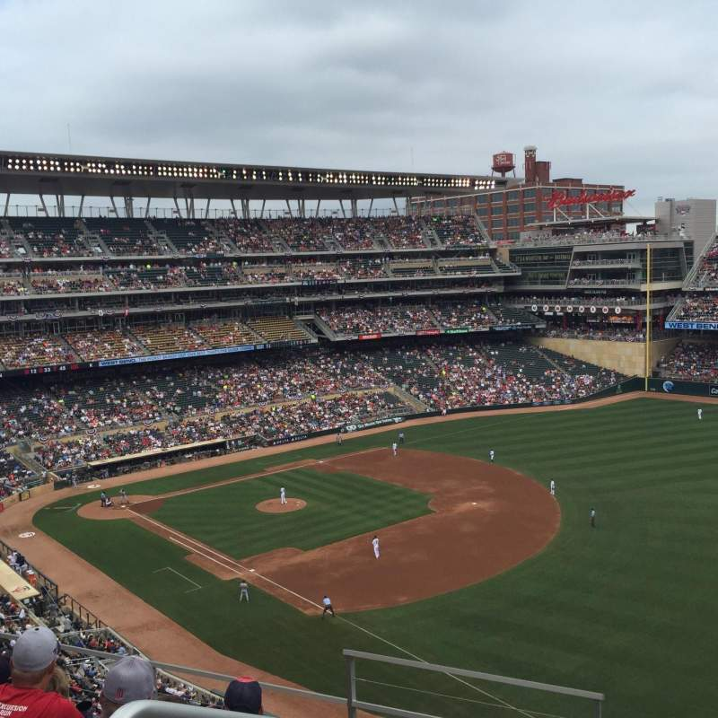 Seating view for Target Field Section 203 Row 5 Seat 24