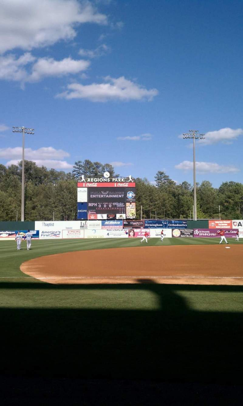 Seating view for Regions Field Section jj Row 1 Seat 2