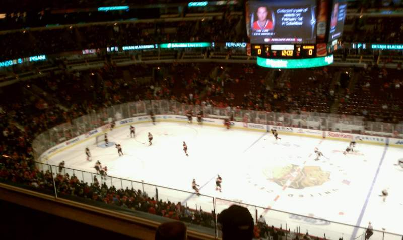 Seating view for United Center Section 332 Row 3 Seat 14