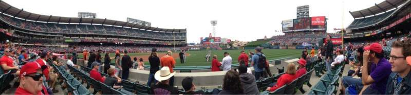 Seating view for Angel Stadium Section F127 Row D Seat 12